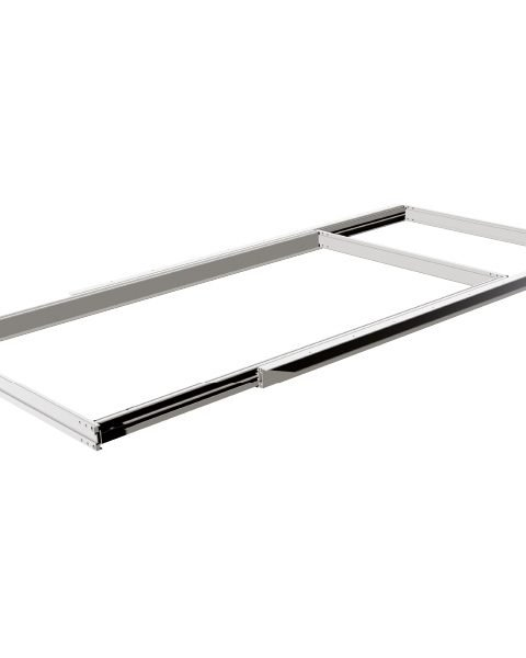 Aluminium frame with side opening