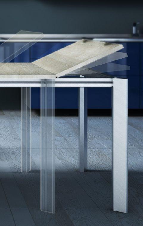 Telai in alluminio per tavoli